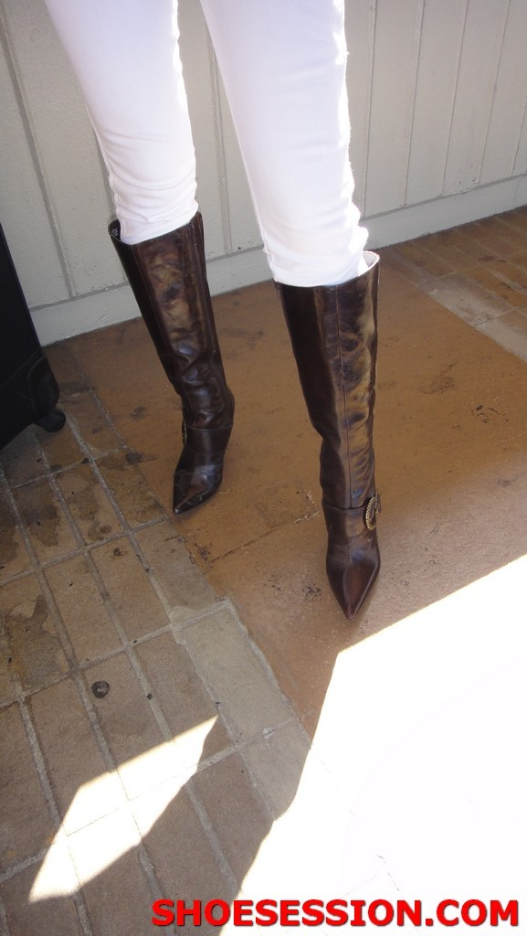 stained boots